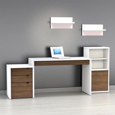 Nexera Liber-T 3 Drawer Computer Desk