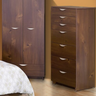 Nexera Nocce Truffle 7 Drawer Chest