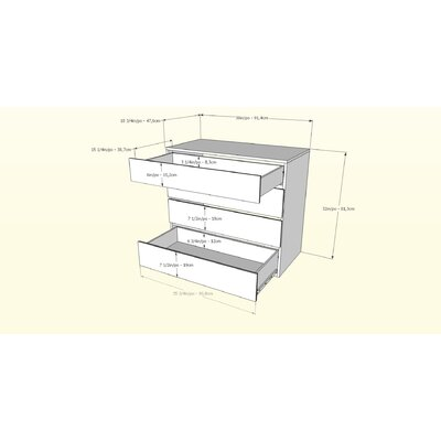 Nexera Avenue 4 Drawer Dresser