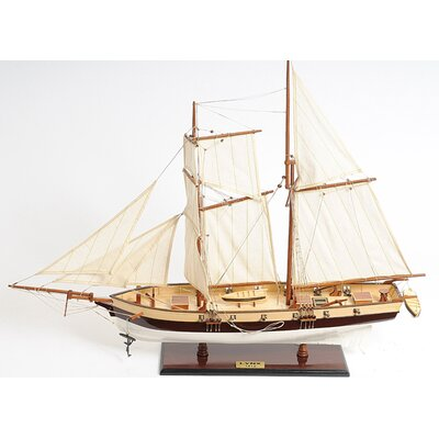 Old Modern Handicrafts Lynx Painted Model Boat