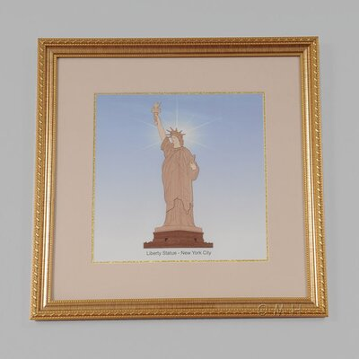Old Modern Handicrafts New York City Liberty Statue Veneer Art