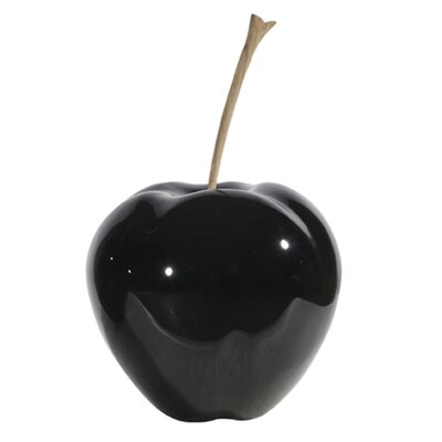 DK Living Lacquered Resin Apple Figurine