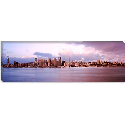 iCanvasArt San Francisco City Skyline at Sunrise Viewed from Treasure Island Side, San ...
