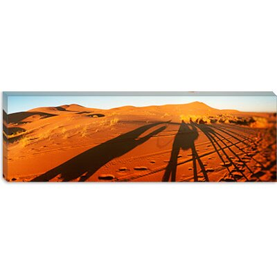 iCanvasArt Shadows of Camel Riders, Sahara Desert, Morocco Canvas Wall Art