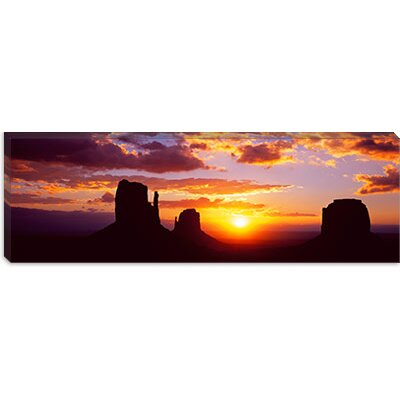 iCanvasArt Silhouette of Buttes at Sunset, Monument Valley, Utah Canvas Wall Art
