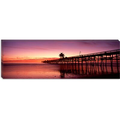 iCanvasArt San Clemente Pier, Los Angeles County, California Canvas Wall Art
