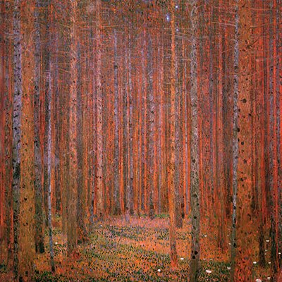 iCanvasArt 'Fir Forest I' by Gustav Klimt Painting Print on Canvas