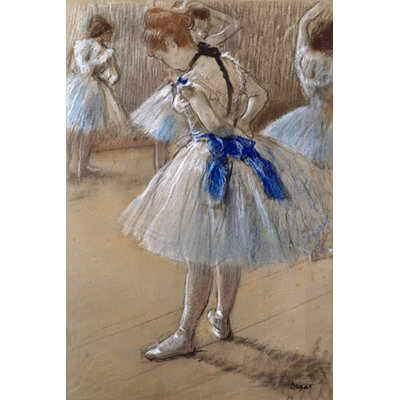 iCanvasArt 'A Study of a Dancer (Danseuse)' by Edgar Degas Painting Print on Canvas