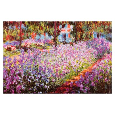iCanvasArt Jardin De Giverny by Claude Monet Painting Print on Canvas