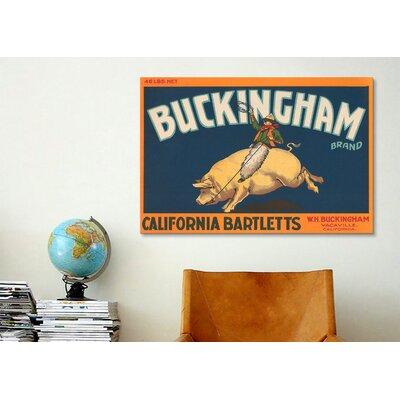 iCanvasArt Buckingham California Bartletts Label Vintage Advertisement on Canvas