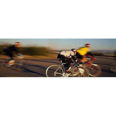 iCanvasArt Panoramic Bicycle Race Tucson, Arizona Photographic Print on Canvas