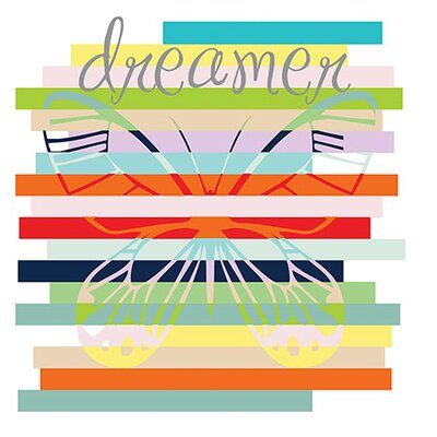 "iCanvasArt ""Butterfly Rainbow"" Canvas Wall Art by Erin Clark"
