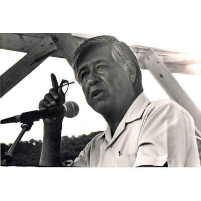 iCanvasArt Political Cesar Chavez Portrait Photographic Print on Canvas