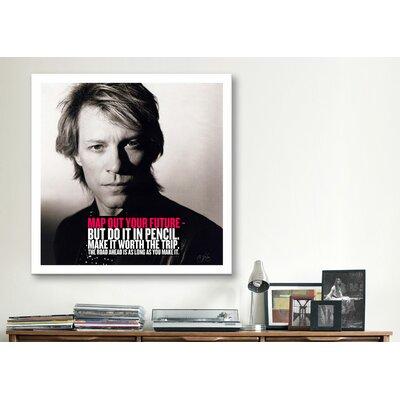 iCanvasArt Bon Jovi Quote Canvas Wall Art