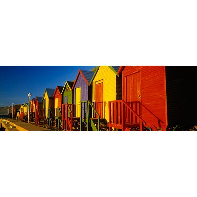 iCanvasArt Panoramic Beach Huts in Cape Town, South Africa Photographic Print on Canvas