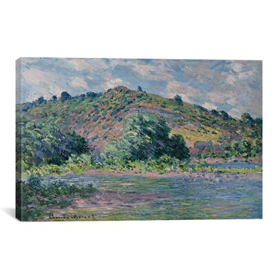 iCanvasArt 'Bords de la Seine a Port-Villez 1885' by Claude Monet Painting Print on Canvas