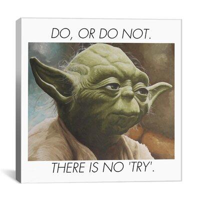iCanvasArt Yoda Quote Canvas Wall Art