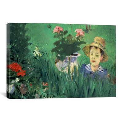 iCanvasArt 'Boy in Flowers' by Edouard Manet Painting Print on Canvas