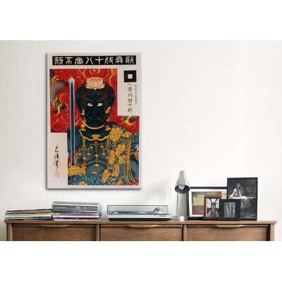 iCanvasArt Acala (fudo) Japanese Woodblock Graphic Art on Canvas