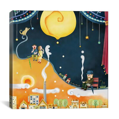 "iCanvasArt ""Castard Moon"" Canvas Wall Art by Youchan"