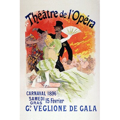 iCanvasArt Carnaval (Veglione de Gala) - Theatre de l'Opera Vintage Advertisement on Canvas