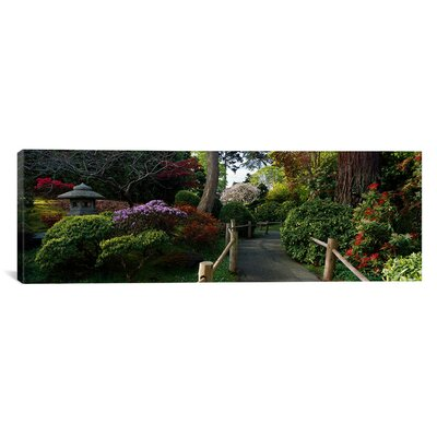 iCanvasArt Panoramic Japanese Tea Garden, San Francisco, California Photographic Print on Canvas