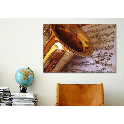 iCanvasArt Photography Saxophone Photographic Print on Canvas