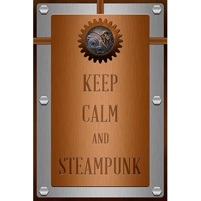 iCanvasArt Keep Calm and Steampunk Textual Art on Canvas