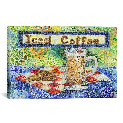 iCanvasArt 'Iced Coffee' by Charlsie Kelly Graphic Art on Canvas
