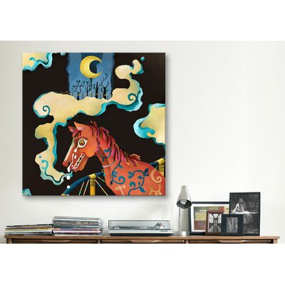 "iCanvasArt ""Horse"" Canvas Wall Art by Youchan"