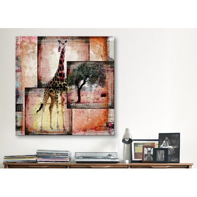 "iCanvasArt ""Girafe"" by Luz Graphics Graphic Art on Canvas"