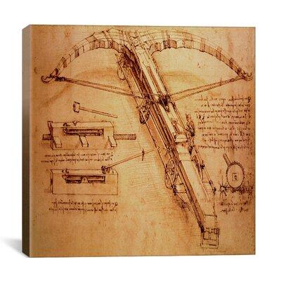 "iCanvasArt ""Giant Catapult, Circa 1499"" Canvas Wall Art by Leonardo da Vinci"