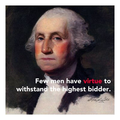 iCanvasArt George Washington Quote Canvas Wall Art