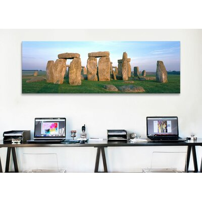 iCanvasArt Panoramic England, Wiltshire, Stonehenge Photographic Print on Canvas