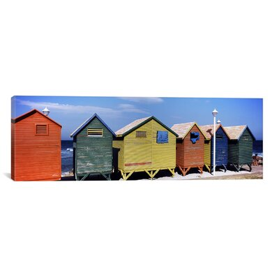 iCanvasArt Panoramic 'St. James Beach, Cape Town, South Africa' Photographic Print on Canvas