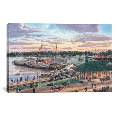 iCanvasArt 'Harbor Springs Mich' by Stanton Manolakas Painting Print on Canvas