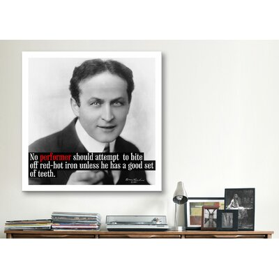 iCanvasArt Harry Houdini Quote Canvas Wall Art