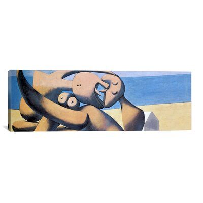 iCanvasArt 'Figure The Sea' by Pablo Picasso Painting Print on Canvas