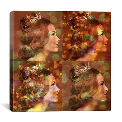 iCanvasArt Miss America Competition 1966 Gold Pop Graphic Art on Canvas