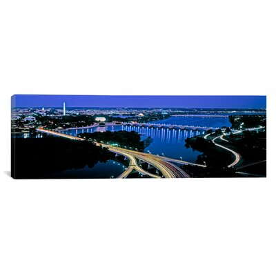 iCanvasArt Panoramic High Angle View of a City Washington DC Photographic Print on Canvas
