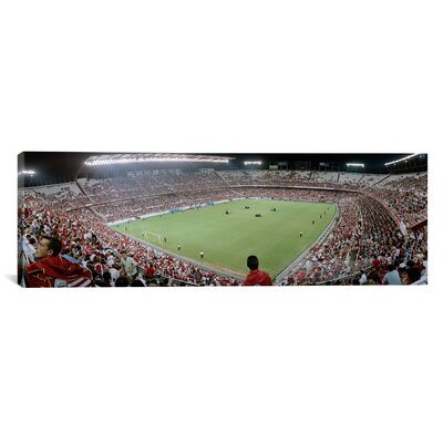 iCanvasArt Panoramic Crowd in a Stadium, Sevilla FC, Estadio Ramon Sanchez Pizjuan, Seville, Spain Photographic Print on Canvas