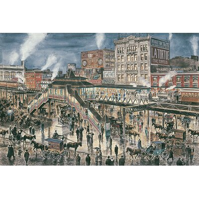 iCanvasArt 'Greely Square, N Y C, Ca 1896' by Stanton Manolakas Painting Print on Canvas