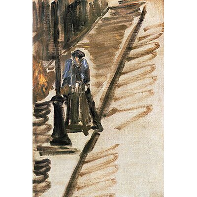iCanvasArt 'Knife Grinder (Rue Mosnier)' by Edouard Manet Painting Print on Canvas