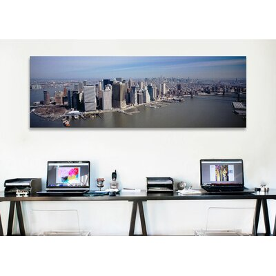 iCanvasArt Panoramic Skyscrapers in a City, Manhattan, NYC, New York Photographic Print on Canvas