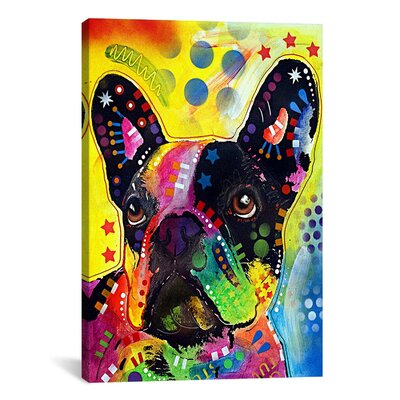 iCanvasArt 'French Bulldog' by Dean Russo Graphic Art on Canvas