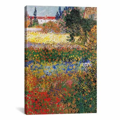 iCanvasArt 'Flowering Garden' by Vincent van Gogh Painting Print on Canvas