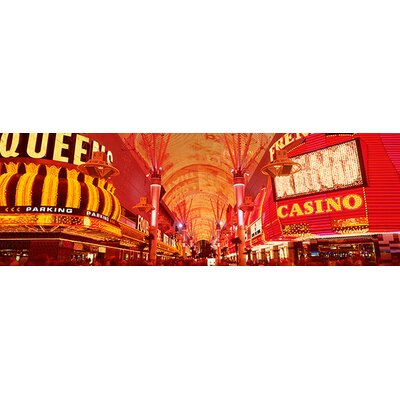 iCanvasArt Panoramic Fremont St. Experience, Las Vegas, Nevada Photographic Print on Canvas