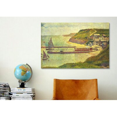 iCanvasArt 'Port-en-Bessin 1888' by Georges Seurat Painting Print on Canvas