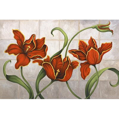iCanvasArt 'Parrot Tulips' by John Zaccheo Painting Print on Canvas