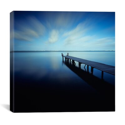 iCanvasArt 'Muelle Azul Crop' by Moises levy Photographic Print on Canvas